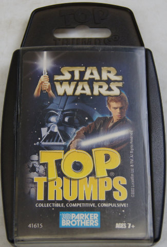 Star Wars Top Trumps Card Game By Parker Brothers 31 Cards ...