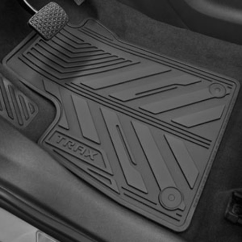2015-18 Chevy Trax Front & Rear All-Weather Floor Mats Black Rubber New 42364954