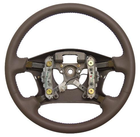 1997 01 Toyota Camry Steering Wheel Oak Brown Leather No
