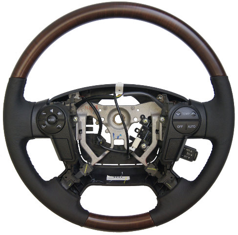 2011 Toyota Sequoia Steering Wheel Black Leather W