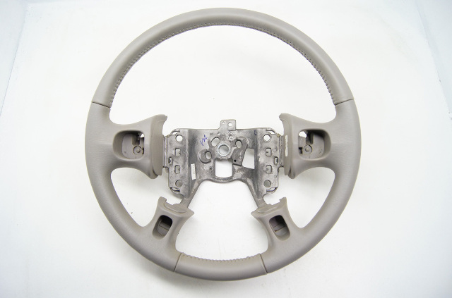 2000-2005 Buick Le Sabre LeSabre Steering Wheel Leather Grey Gray w/o switches
