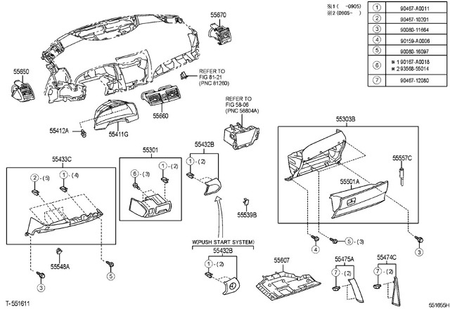 Ventalation 2007 Toyota Camry Diagram Toyota Auto Parts