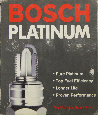 Bosch Platinum Spark Plugs #4201 Pack of 4 NOS