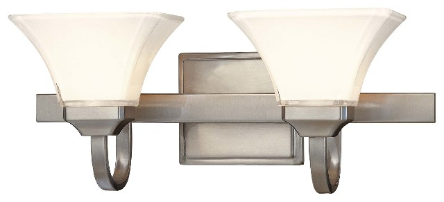 Minka Lavery Bridlewood Stone Grey With Brushed Nickel: Minka Lavery 6812-84 Agilis 2-Light Bathroom Vanity