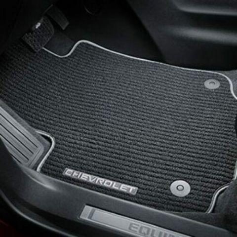 Chevy Equinox Front Carpet Floor Mats Black Grey Stitch New