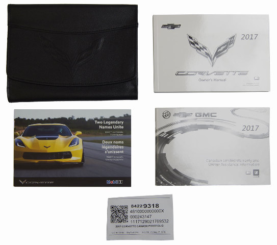 2017 Chevy Corvette C7 Owners Manual Canada Version Black