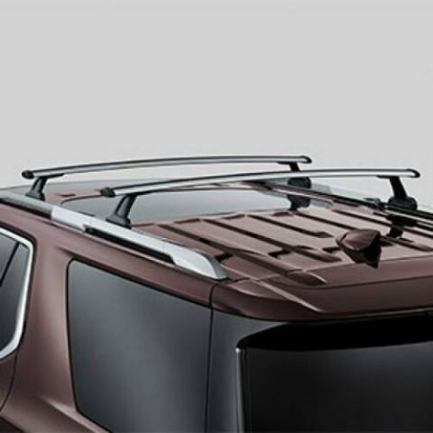 2018-2019 Chevy Traverse Roof Rack Cross Rail Bars New OEM Silver 84231366