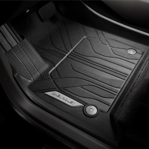 2018 Chevy Traverse Front All-Weather Black Rubber Floor Mats New OEM 84331850