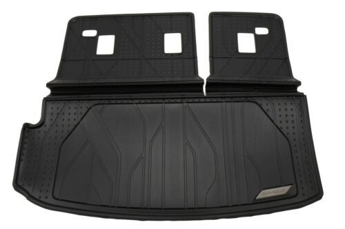 2018-2020 Chevy Traverse Cargo & Seat Back Mat Black Rubber Liner New 84409049