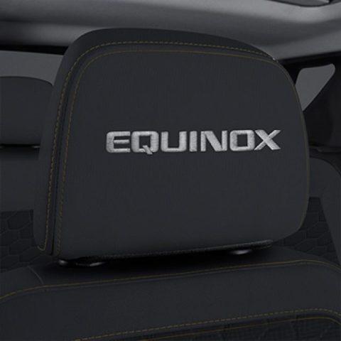 2019-2020 Chevy Equinox Headrest Black Cloth W/Equinox Stitched New 84466959