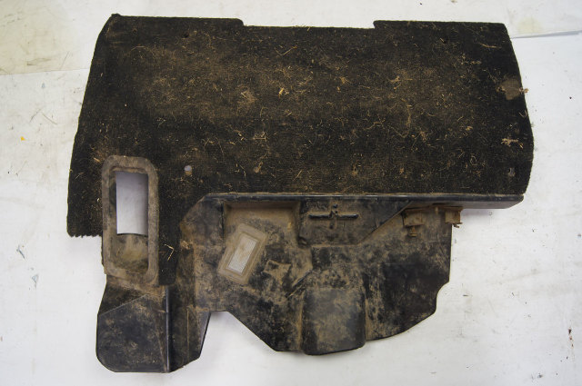 1994-1996 Chevy Corvette C4 Left Driver Footwell Hush Carpet Panel Black Used