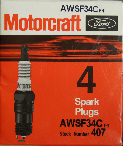 Motorcraft Spark Plugs Stock No 408 Agsf24c Pack Of 4 New
