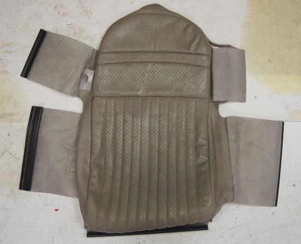 1997-2004 Chevy Corvette C5 Sport Driver Side Upper Inner Seat Cover Gray Used