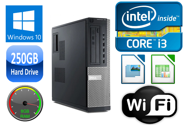 dell optiplex  desktop ii dualquad core gb ram gb hd usb  win