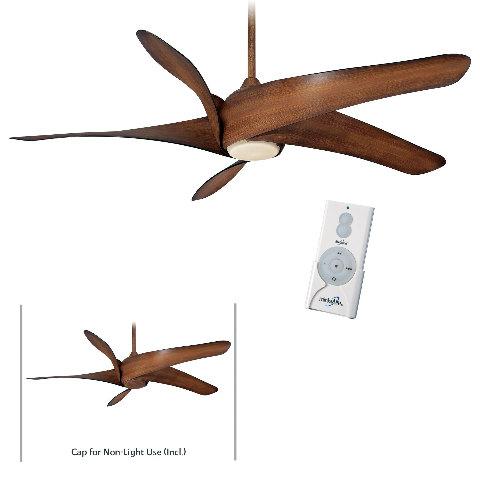 """Minka Aire F905L-DK Distressed Koa Artemis XL5 62"""" Ceiling Fan w/Remote Control"""