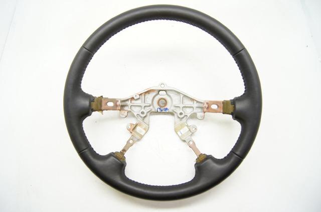 2000-2002 Mazda 626 Steering Wheel Ebony Leather Black
