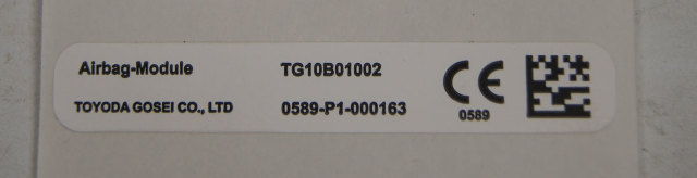 Caution Label Airbag Module CE Label Toyota New OEM