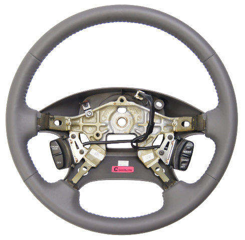 2000-2002 Mazda 626 Steering Wheel Grey Leather With Cruise Control Buttons New