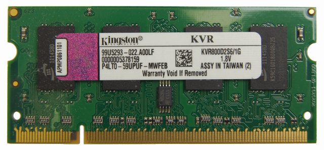 Kingston 1gb 200 Pin Ddr2 So Dimm Ddr2 800 Pc2 6400 Laptop Memory Model Kvr800