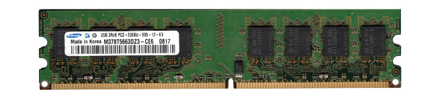 The Copper Door Tacoma >> SAMSUNG M378T5663DZ3-CE6 2GB PC2-5300U 667MHz 240-pin DDR2 DIMM Desktop Memory