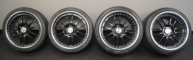 Ozwheels Oz Racing Superleggera Iii Staggered Wheels Set Black W Polished Lip X X W Hankoo on 2007 Buick Lacrosse Black
