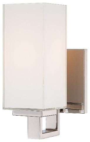 George Kovacs P1702 613 1 Light Wall Sconce Polished Nickel