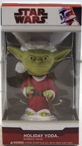 Star Wars Holiday Yoda Bobble Head 4