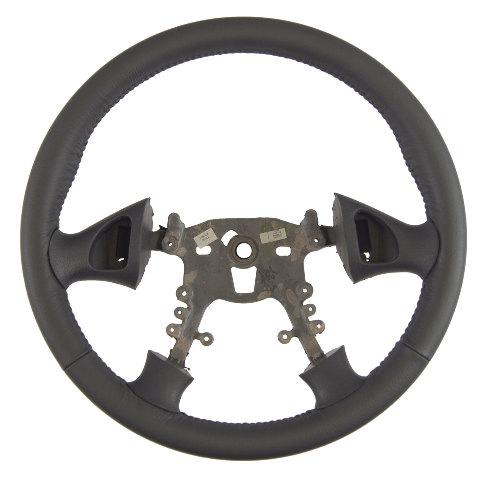 1999-2005 Pontiac Grand Am Steering Wheel Graphite Grey Leather New 22614788