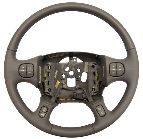 2000-2005 Buick LeSabre Steering Wheel Grey Leather New 25757141 25748179