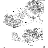 GM Transmission Mount Bolt New OEM Black M12 X 1.75 X 65mm 03535723