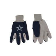 NFL Licensed Football Dallas Cowboys Two Tone Team Dot Grip Palm Gloves