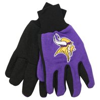 NFL Licensed Football Minnesota Vikings Two Tone Team Dot Grip Palm Gloves