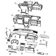2008-2009 Dodge Caliber Instrument Gauge Cluster Bezel Slate Grey New 0YD471DVAB