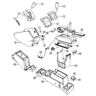 2007-2009 Dodge Caliber Shifter Console Panel Pebble Beige 0YD74DKAAC 0YD741KAAB