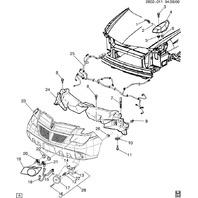 2001-2005 Pontiac Aztek Front Corner Lamps Retainer Clips Pair (2) New 10423332