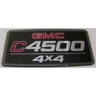 EMBLEM GMC C4500 4X4 DECAL STICKER TOPKICK