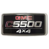 2005-2009 GMC Topkick C5500 4X4 Emblem Badge Nameplate Decal New OEM 15129993