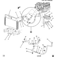 2003-2009 Topkick/Kodiak C4500-C8500 Radiator Overflow Hose Clip New 15745862