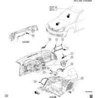 New 08-10 Saturn Aura Airbag Sensor Module 15835185