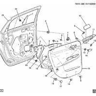 2006-2014 Chevrolet Impala Classic Rear LH Door Handle Inside Trim Cover Black 15862941