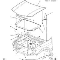 2005-2007 Buick Rainier Bravada SSR Trailblazer Hood Latch Assembly New 15876373