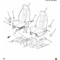 GM Trucks RH Front Seat Belt Utility Cover Trim Cocoa New OEM 15882423 10378584
