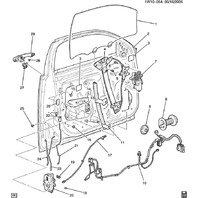 2006-2014 Chevy Impala Front LH Door Lock Rod New OEM Ebony 15920295 15804628