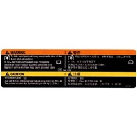 2009 A/C Warning Label Stickers English & Chinese Under Hood New OEM 20758184