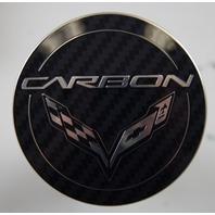2014-2018 Corvette C7 Wheel Center Cap Set (4) CARBON Black New OEM 20918542