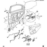 2006-2010 Chevrolet Pontiac Manual Window Crank Handle Black New OEM 22672488