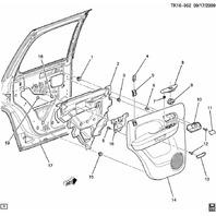 2007-2014 GM Rear Door Power Window Switch New Ebony 22895547 25898072 22864846
