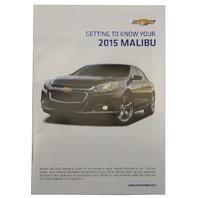 2015 Chevy Malibu US Owners Manual Booklet W/Warranty Book New OEM 22941524