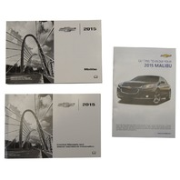 2015 Chevy Malibu US Owners Manual Booklet W/Warranty Book New OEM 22941524