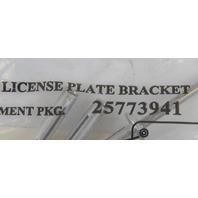 GM Front License Plate Bracket Mount Kit New OEM 4 Rivets + 4 Screws 25773941